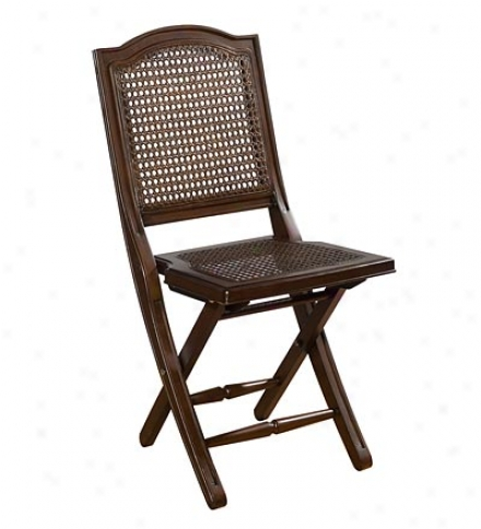 Hardwood Cane-backed Folding Chair