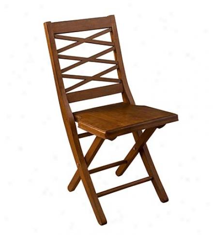 Hardwood Crossback Folring Chair