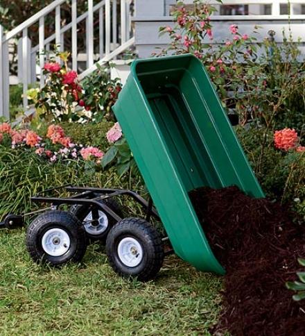 Heavy-duty Rolling Garden Dump Cart