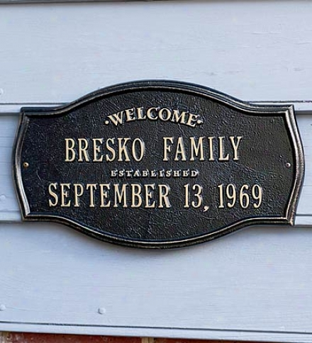 Heirloom Personalized Welcome Plaque