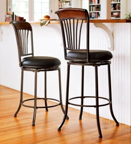 High-back Swi\/el Counter Stool