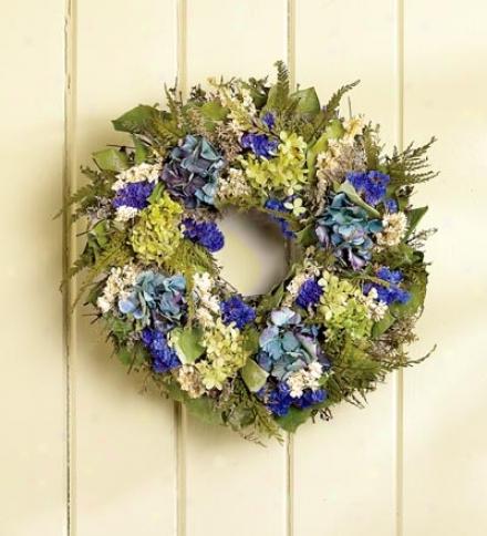 """Hydrangea Wreath, 16"""" Dia."""