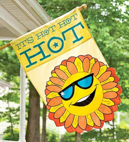 If&#039;s Irascible, Hot, Hot Garden Flag