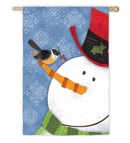 Jolly Snowman Nylon House Flag