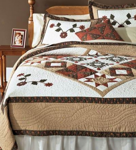 Josephjne Embroidered Sampler Quilted Pillow