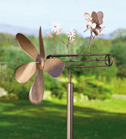 Kinetic GardenA rt Flower Fairy Whirligig