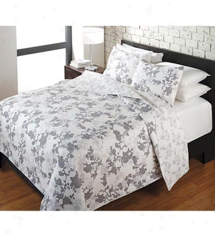 King 100%  Cotton Shadow Rose Quilt Set