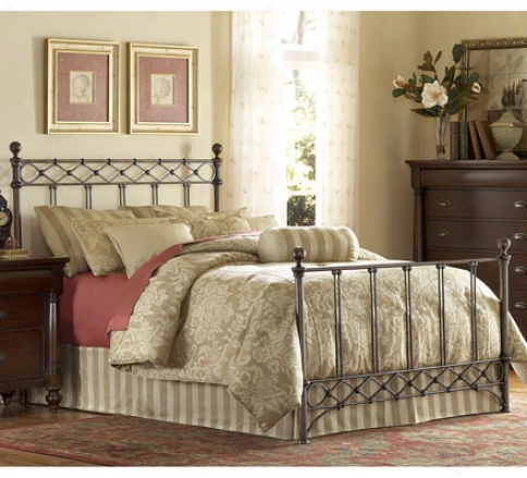 King Argyle Bed With Frame