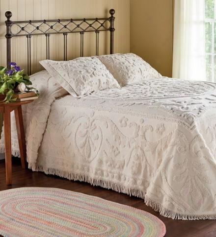 King Cotton Chenille Garden Vine Bedspread