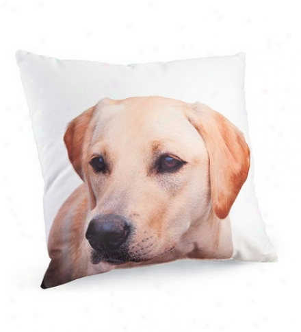 Labrador Photo-printed Throw Pillows