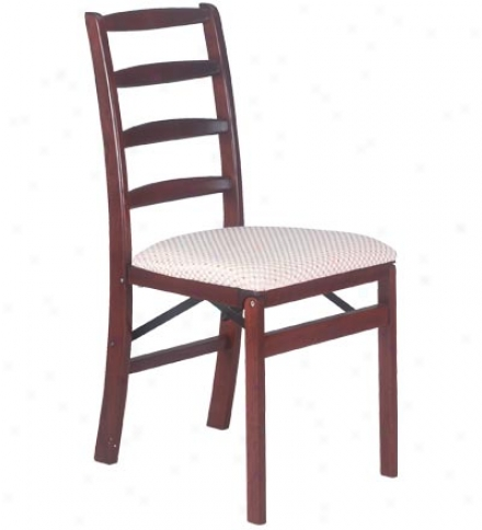 Ladder Back Folding Chair, Set Of 2