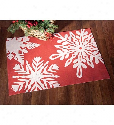 Lamontage??? Polyester Indoor/outdooe Snowflake Rug By Liora Manne