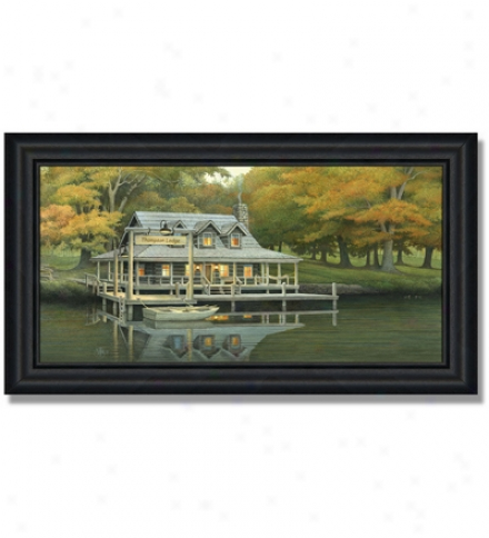 Large 'lake House' Personalized Print
