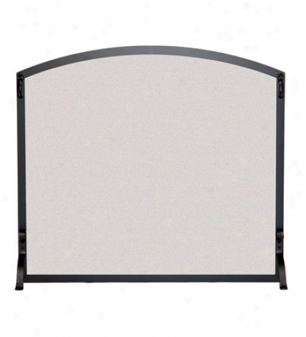 Large Appliqu?? Scroll Fireplace Screen