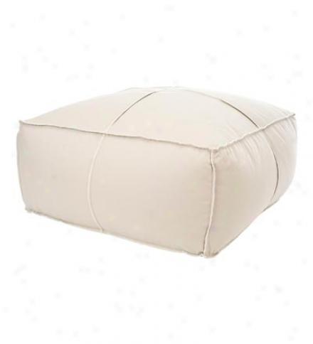 Large Bean Bag In Ecru Linen Fabric