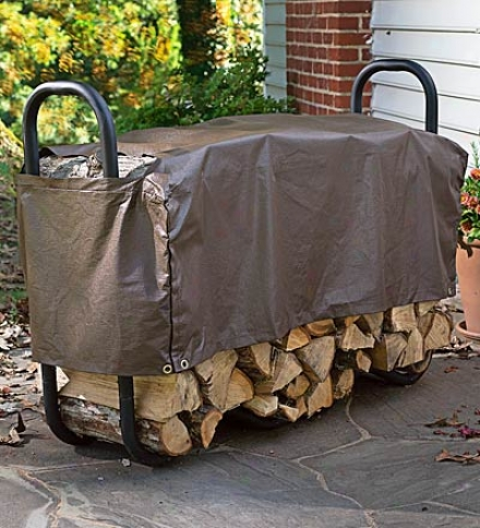 "Large Flowting Log Rack Cover With Cutouts For Breathability 98""l X 24""w X 16""h"
