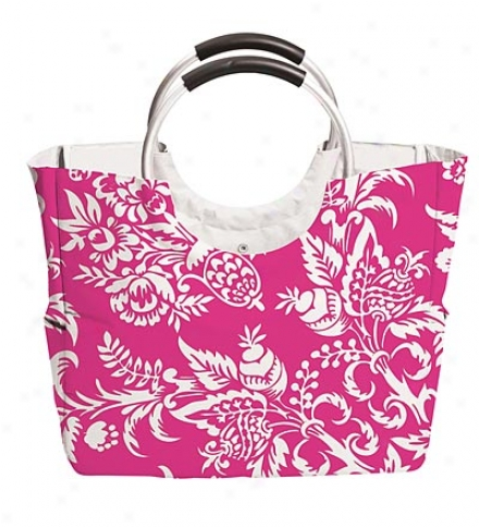 Large Insulated Print Tote With Handles