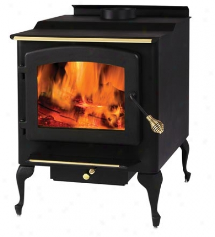 Large Woodburning Stove With Cast eLgs