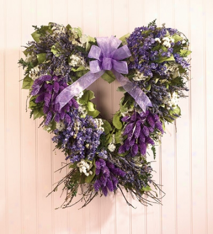 Lavender Countty Hearth Wreath