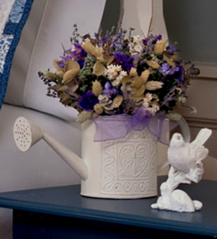 Lavender Watering Can Arrangement