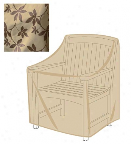 Leaf Print Outdoor Furniture All-weather Screen For Armchair