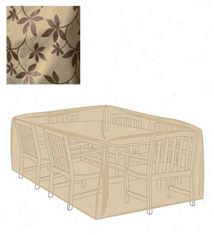 Leaf Print Outsoor Furniture All-weather Cover For Rectangular Table & Chairs