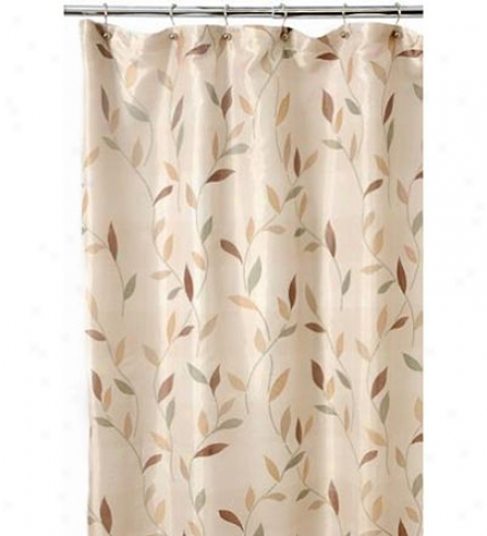 Leafy Pattern Polyester Shower Curtain