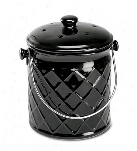 Lezkproof, Odor-free 1-ggallon Lattice Ceramic Manure Crock