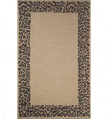 """Leopard Border Rug, 7'6""""w X 9'6""""l"""