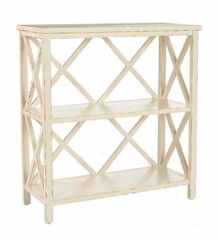 Liam 3-shelf Open Bookshelf In An Ivory Finish