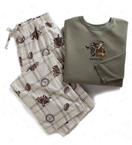 Life Is Good?? Men's Game On Pajama Set