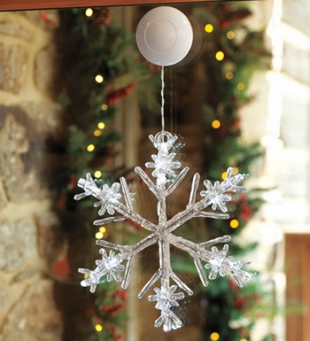 Lighted Led Holiday Indoor Or Outdoor Snowflake Drcoration