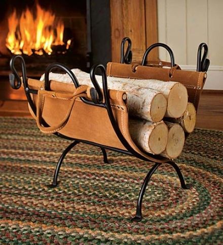 Log Rack With Sling