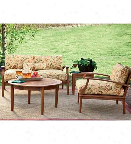 Low-maintenance, Solid Eucalyptus Outdoor Deep Seating Love Seat With Cushions