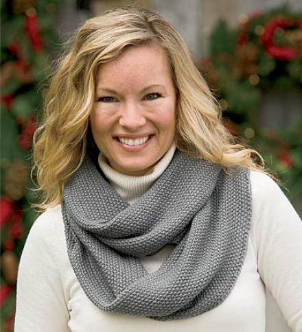 Machine-washable Circle-knit Acrylic Infinity Scarf