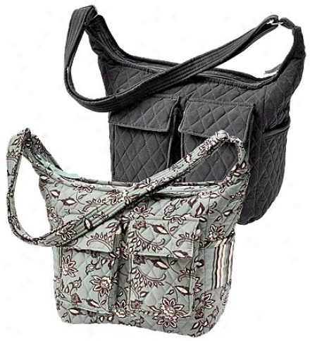 Machine-washable Quiltedd Cargo Bag With Shoulder Strap