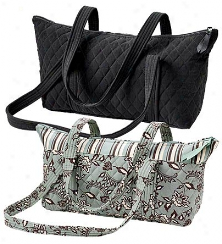 Machine-washable Quilted Mini Tote With Shoulder Strap