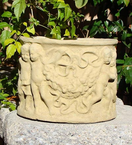 Made In Usa Caqt-stone Angel Cherub Planter