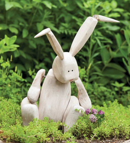 Madison Meadows Polyresin Rabbit Garden Sculpture