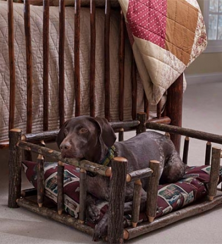 Medium Usa-made Handcrafted Hickory Dog Rail Bed
