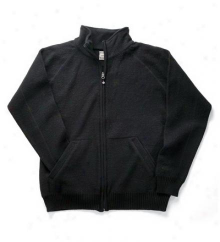 Men's Boiled Wool Zip-front Sweater Jacket