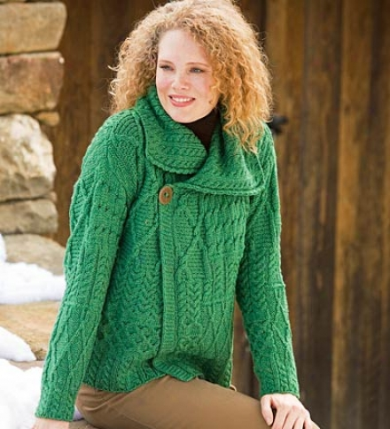 Merino Wool Corina Cardigan With Single-button Face
