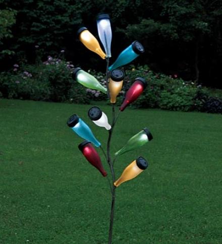 Metal Bottle Tree Sculpture