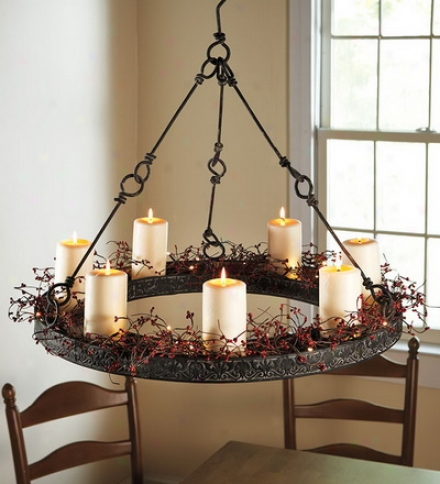 Metal Hanging Candle Chandelier