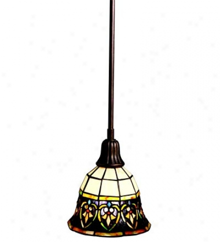 Mini Pendant Light With Stained Glass Shade