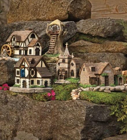 Miniature Polryesin Fairy Village Body of Christians Sculpture