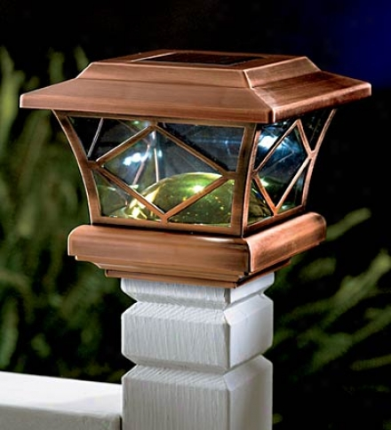 Mission Solar Post Cap Light