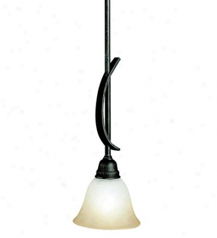 Modern Mini Pendant Light With East Marble Glass Shade