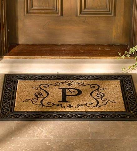 oMnogrammed Coir Doormat