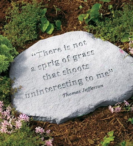 Monticello Thomas Jefferson Quote Stepping Stone